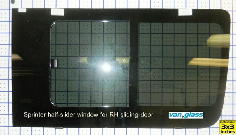 Sprinter Venting Side Glass
